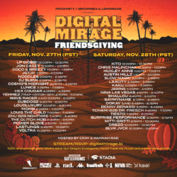 Digital Mirage Friendsgiving Flyer