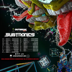 Subtronics X Monster Outbreak Tour Logo