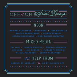 Off/On Neon Art Show Flyer